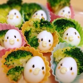 お弁当に☆可愛いうずらの小鳥(ひよこ)♡