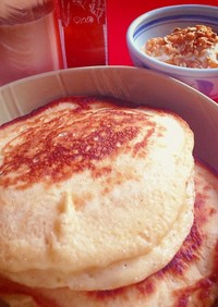 こだま酵母でイースト発酵のパンケーキ