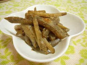 簡単☆牛蒡と蒟蒻の甘味噌炒め煮