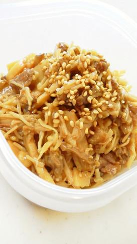 ご飯のお供簡単常備菜牛肉と茸と筍と時雨煮