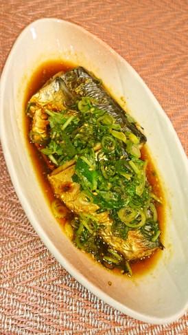 焼き鯖の香味野菜ソース