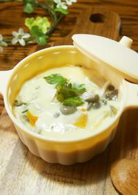 南瓜とチーズの茶椀蒸し☆ココットカマン