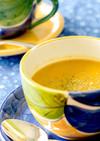 ブロッコリー、ひよこ豆、根菜のスープ