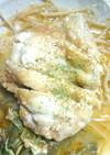 レンジで簡単味噌ケチャップチキンステーキ