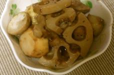 里芋と鶏レンコンのオイスターソース炒め