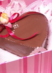 ハートのバレンタインケーキ~♪