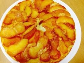 リンゴのホットケーキカラメル風