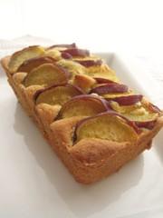 サツマイモのパウンドケーキの写真
