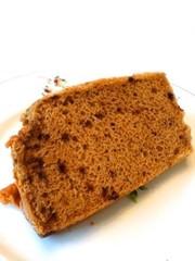コーヒー&味噌のシフォンケーキの写真