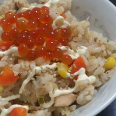 簡単☆鮭缶の味噌バター炊き込みご飯