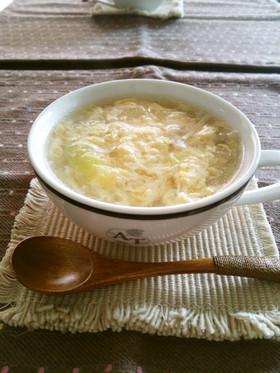 白菜と卵のとろとろスープ