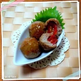 お弁当に♪フレッシュな♡ミニトマト肉団子