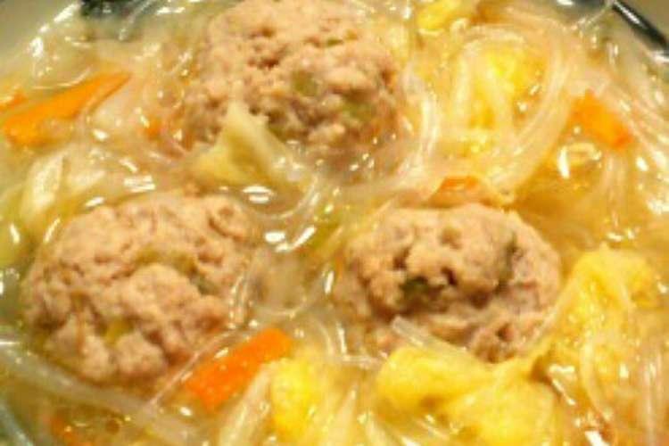の 肉 団子 スープ と 白菜 【みんなが作ってる】 肉団子スープ