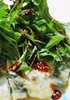 ニラのチヂミ~水菜のせサラダ風~