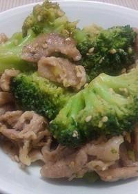 豚肉とブロッコリーのヨシダソース炒め