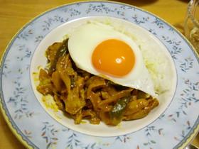 豚肉のカレー煮ライス