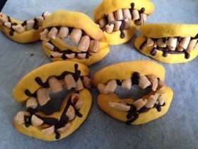 恐怖 ハロウィン歯型 かぼちゃクッキー