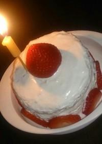 1歳簡単安心誕生日ケーキ☆クリスマスにも