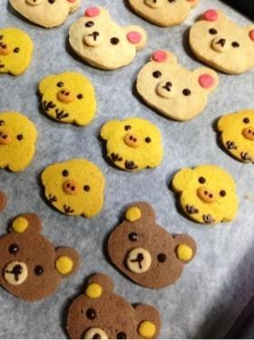HMとはちみつで簡単♡リラックマクッキー