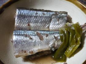 秋刀魚のネギワタ煮