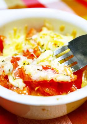 簡単にイタリアン!完熟トマトのチーズ焼き