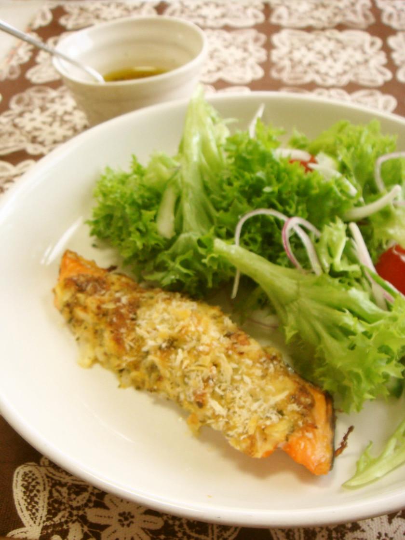 タマネギ入り☆鮭のこんがりマヨチーズ