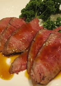 炊飯器で作る簡単ローストビーフ
