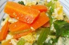 あと一品に✿小松菜と人参と大根の卵とじ