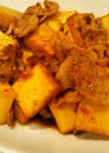 厚揚げと豚肉のピリ辛炒め
