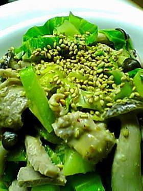 簡単☆豚肉とキャベツの焼肉風味の和え物