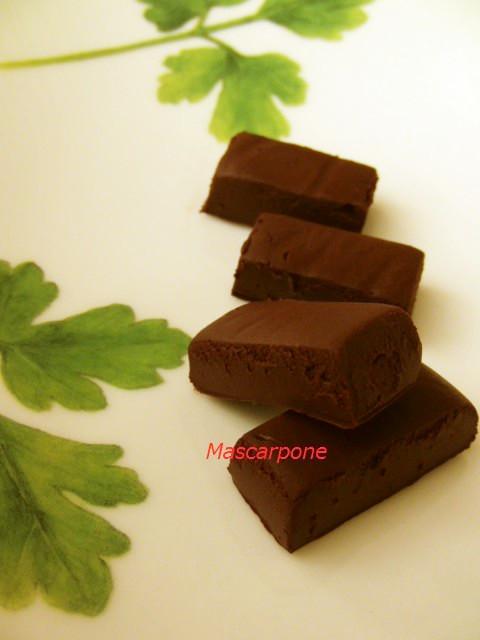低糖質*生チョコ of マスカルポーネ