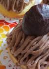 栗の渋皮煮でモンブランケーキ