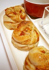 ドライトマト&トマトジャムの折り込みパン