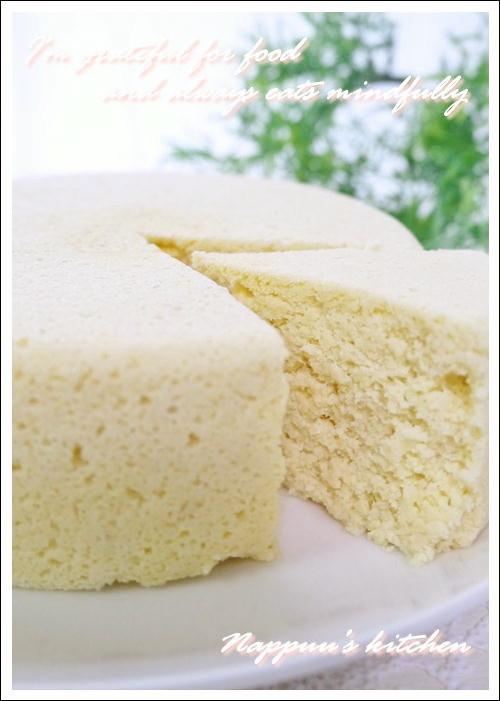 レンジdeおからとヨーグルトのケーキ