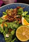 すごく簡単☆春菊とじゃことゆで卵のサラダ