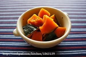 レンジで簡単♪かぼちゃの煮物
