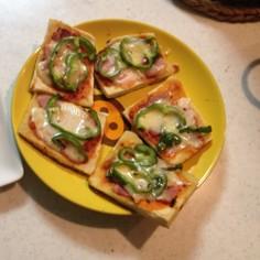 糖質制限 高野豆腐のピザ