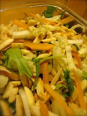 白菜と柿の秋っぽいサラダ