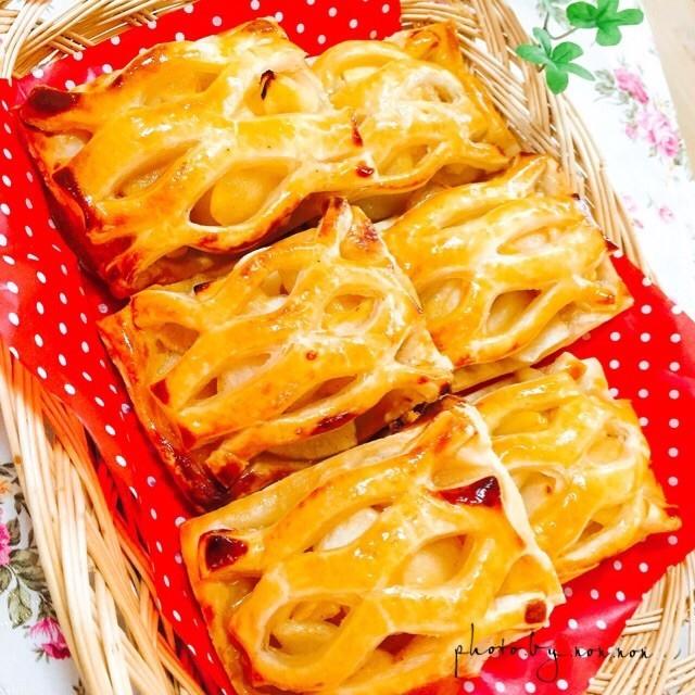 冷凍パイを使って 簡単アップルパイ