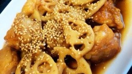 ご飯がすすむ〜♡鶏肉とれんこんの甘辛炒め
