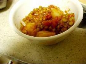 緑豆と里芋のカレー