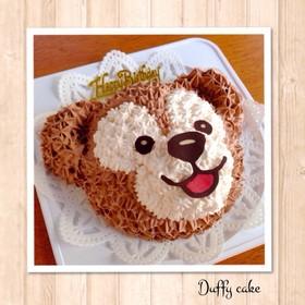可愛い♪ダッフィーの立体ケーキ♡