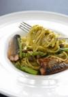 簡単!秋味秋刀魚のジェノベーゼスパゲティ