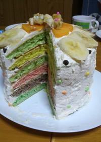 簡単!HMでレインボーケーキ