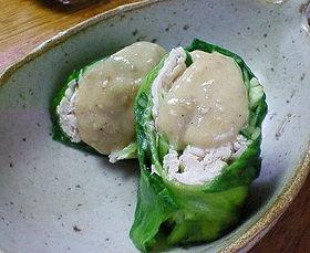 レタスの春巻きサラダ