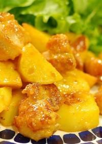 鶏とじゃが芋の簡単♬マヨケチャ炒め