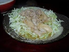 キャベツの肉あんかけサラダ風