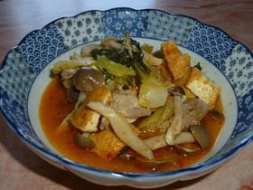 チンゲン菜と鶏肉の四川風炒め