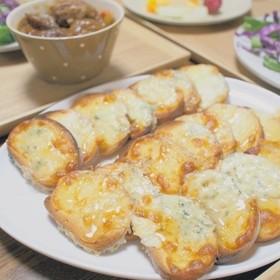 ブルーチーズ香るこんがりはちみつパン。