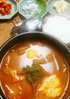 あったまる♪韓国味噌のスープ鍋